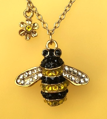 Danielles bee bumblebee pendant necklace sterling silver gold aloadofball Images